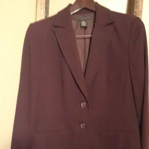 Apostrophe Maroon Lined 2 Button Blazer